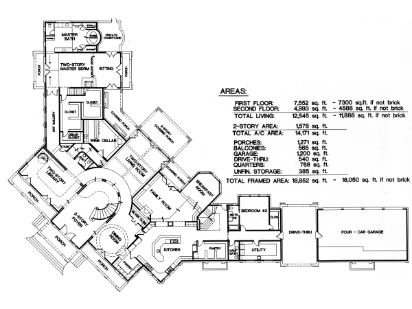 Farmhouse plans custom home plans for Custom house blueprints